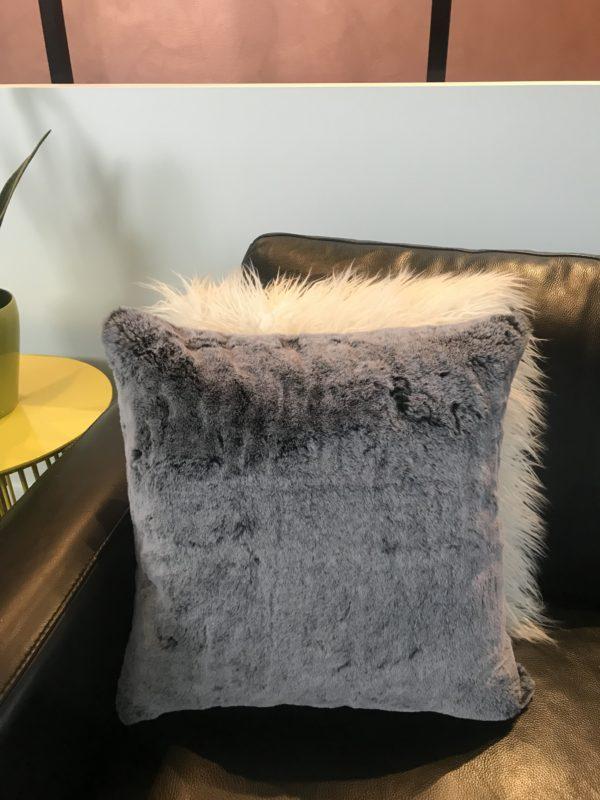 Fluffy Custom Cushion - Grey Chicago Cushion